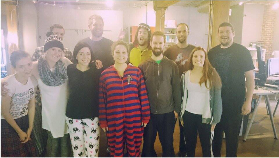 Pajama day at work