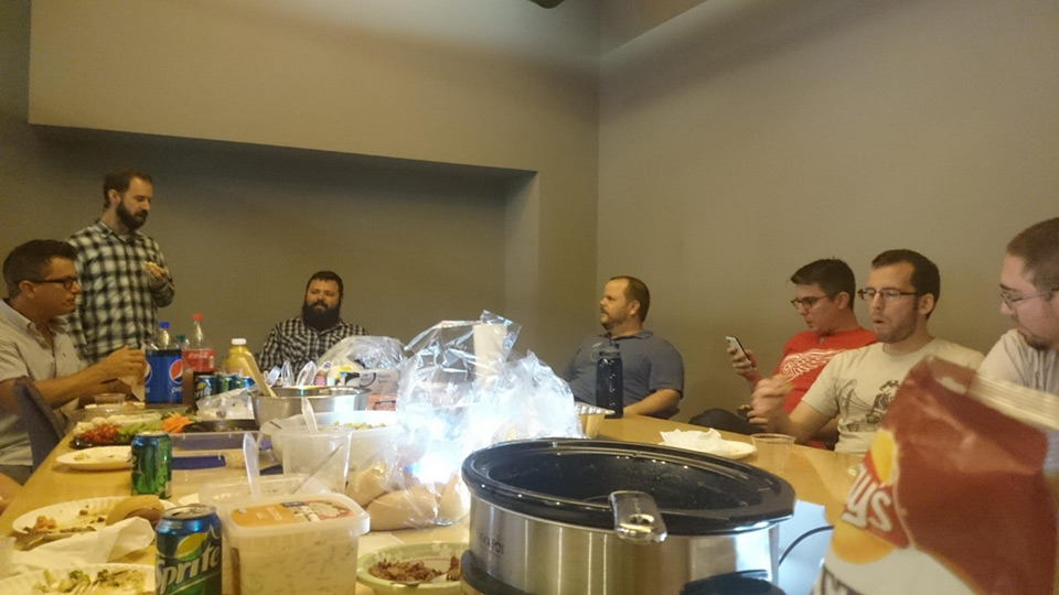 NEWMEDIA team enjoying BBQ